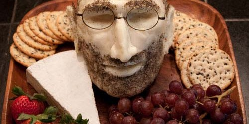 Mozzarella Cheese Head of Steve Jobs