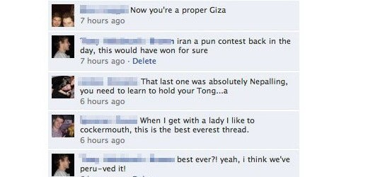 Epic Facebook Thread on Geographical Puns