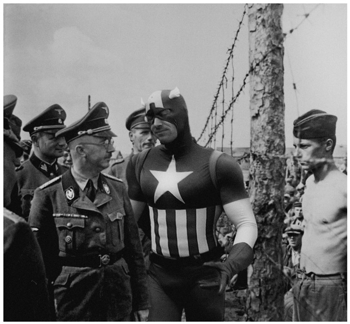 Superimposed Superheroes During Wartime