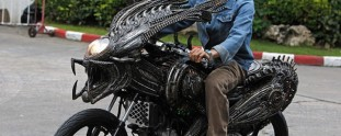 Amazing Predator Motorcycle Made from Spare Parts
