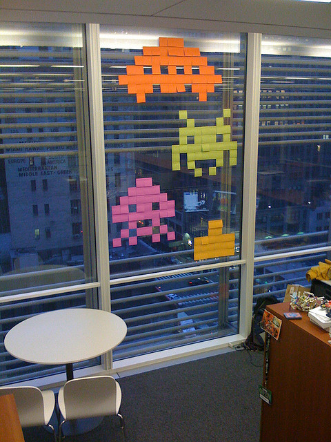 Post-It Notes: Office Space Invaders
