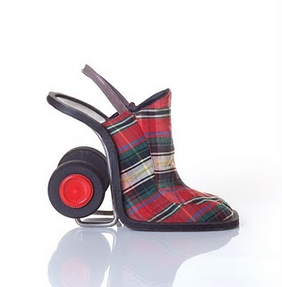 Odd and Artistic High-Heeled Shoes by Kobi Levi
