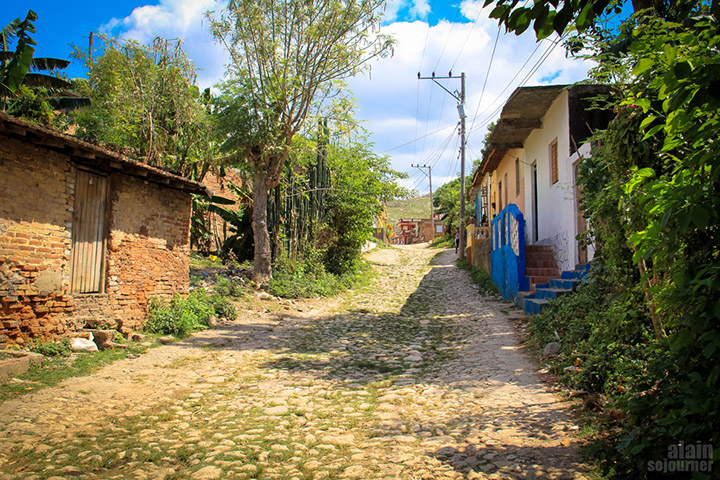 The cave is 10 minutes walk from the city center of Trinidad, Cuba.