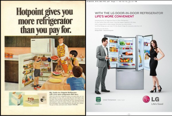 """""""fancy fridge"""" used to mean """"comes with an ice bucket."""""""