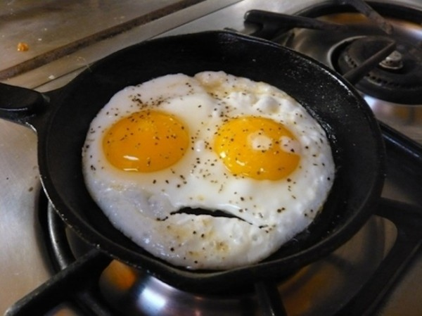 These eggs want to know why you're licking your lips.