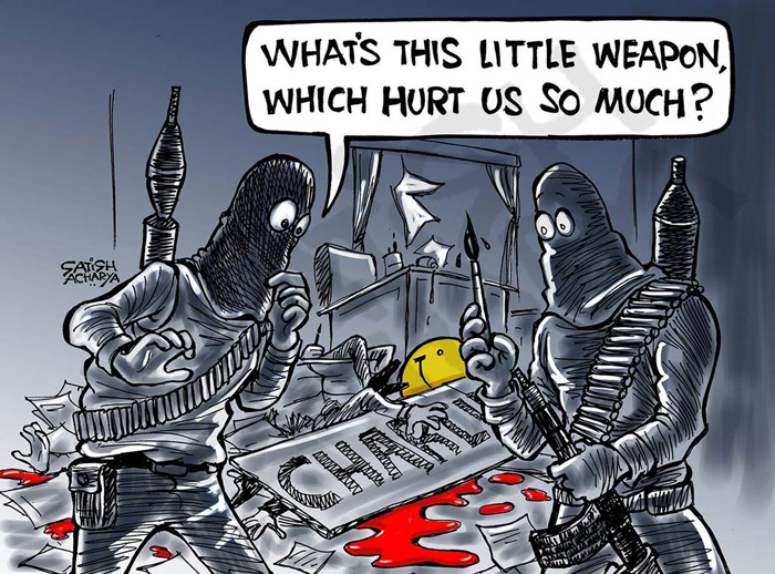 Cartoonists Pay Tribute To The Victims Of The Charlie Hebdo Shooting (28)